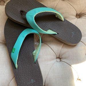Sanuk flip flops - women's size 11